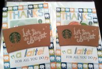 Thanks A Latte Cards Diy  Free Template  American Amma in Thanks A Latte Card Template