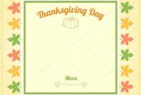 Thanksgiving Day Menu Template — Stock Vector © Beinluck within Thanksgiving Day Menu Template