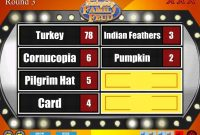 Thanksgiving Family Feud Trivia Powerpoint Game  Mac And Pc regarding Family Feud Powerpoint Template With Sound