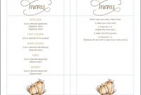 Thanksgiving Menu Template  Thanksgiving Menu Templates Free within Thanksgiving Day Menu Template