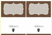Thanksgiving Name Place Cards Template  Template  Resume Examples within Thanksgiving Place Cards Template