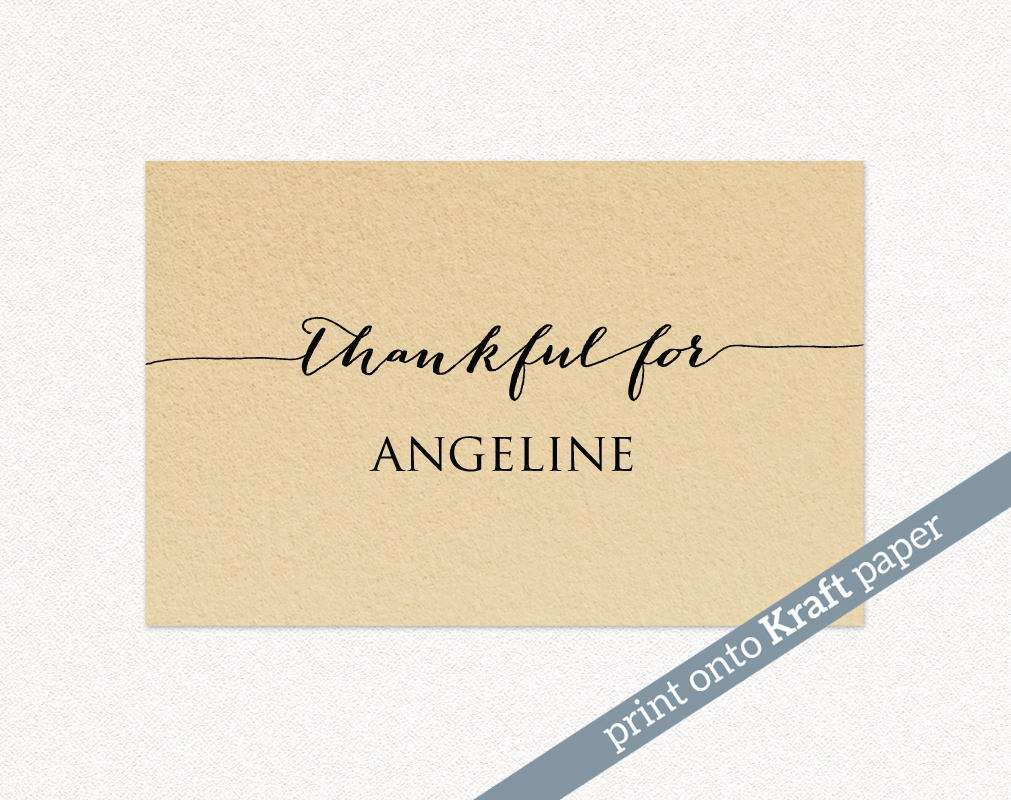 Thanksgiving Place Cards · Wedding Templates And Printables Regarding Thanksgiving Place Cards Template