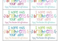 The Best Random Acts Of Kindness Printable Cards Free  Girl Scouts inside Random Acts Of Kindness Cards Templates
