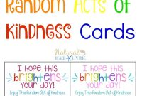 The Best Random Acts Of Kindness Printable Cards Free  Natural for Random Acts Of Kindness Cards Templates