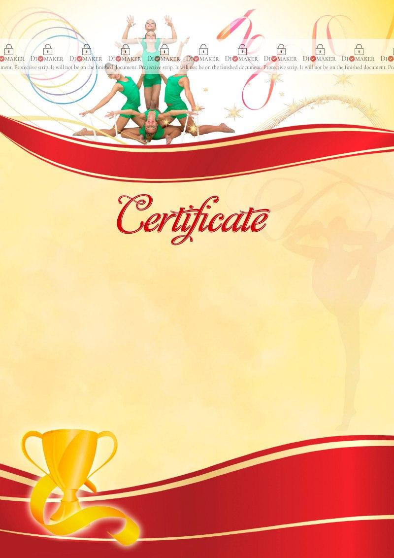 The Certificate Template «Rhythmic Gymnastics»  Dimaker  Templates Pertaining To Gymnastics Certificate Template