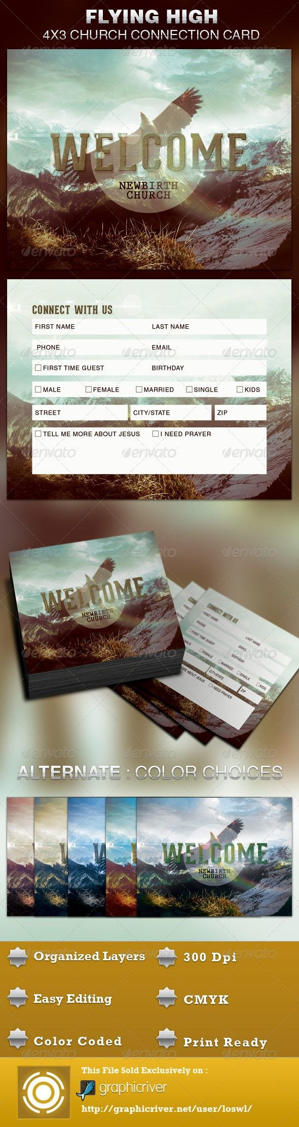 The Flying High Church Connection Card Template Is Great For Any Intended For Decision Card Template