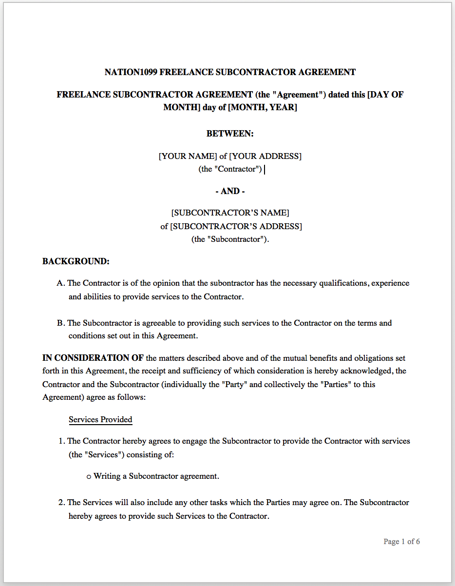 The Freelance Contract How To Write An Effective Statement Of Work In Freelance Consulting Agreement Template