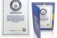 The Guinness World Records Store  Certificates inside Guinness World Record Certificate Template