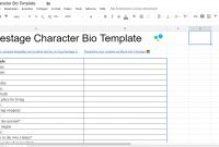 The Ultimate Character Bio Template    Questions  Attributes in Free Bio Template Fill In Blank