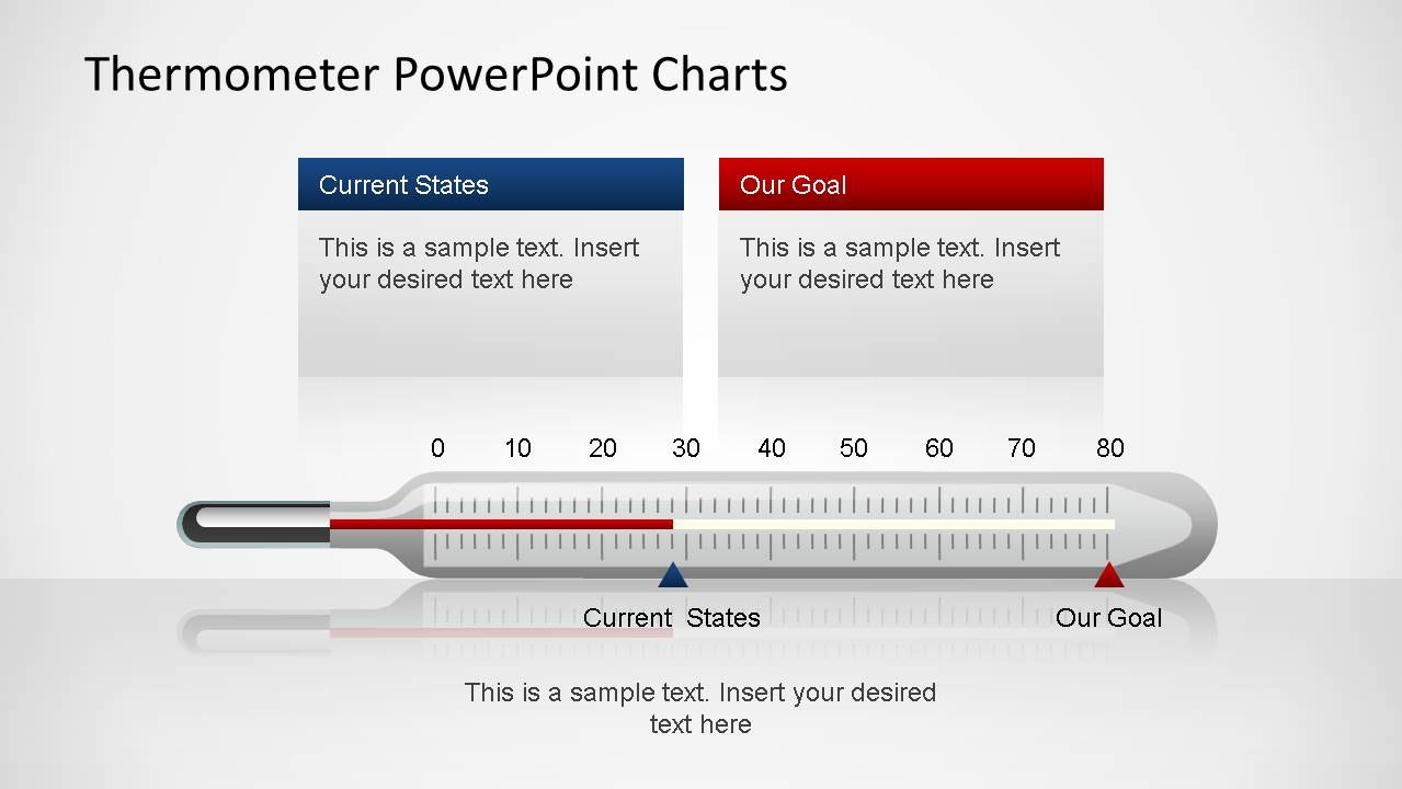 Thermometer Powerpoint Charts  Slidemodel Throughout Powerpoint Thermometer Template