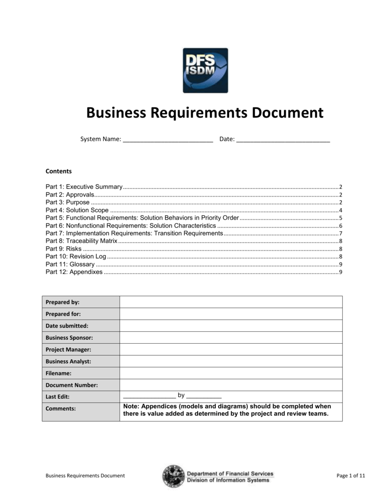 This Business Requirements Document Template Conforms To Pertaining To Business Analyst Documents Templates