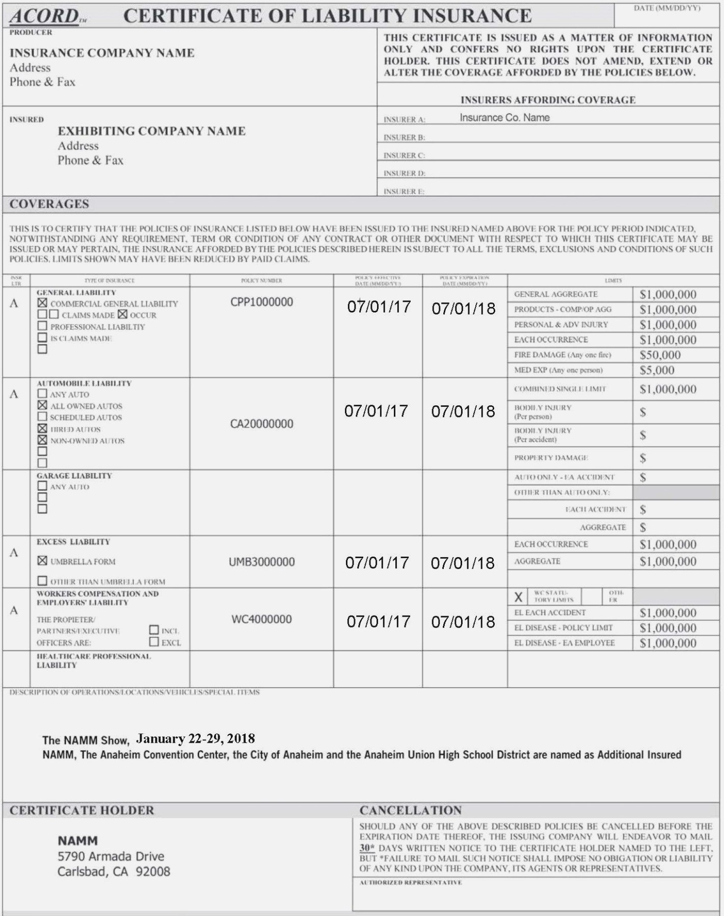 This Story Behind Acord  Realty Executives Mi  Invoice And Resume Regarding Certificate Of Insurance Template