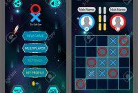 Tic Tac Toe Game Screen Mobile Full Game  Main Menu And Playing throughout Tic Tac Toe Menu Template