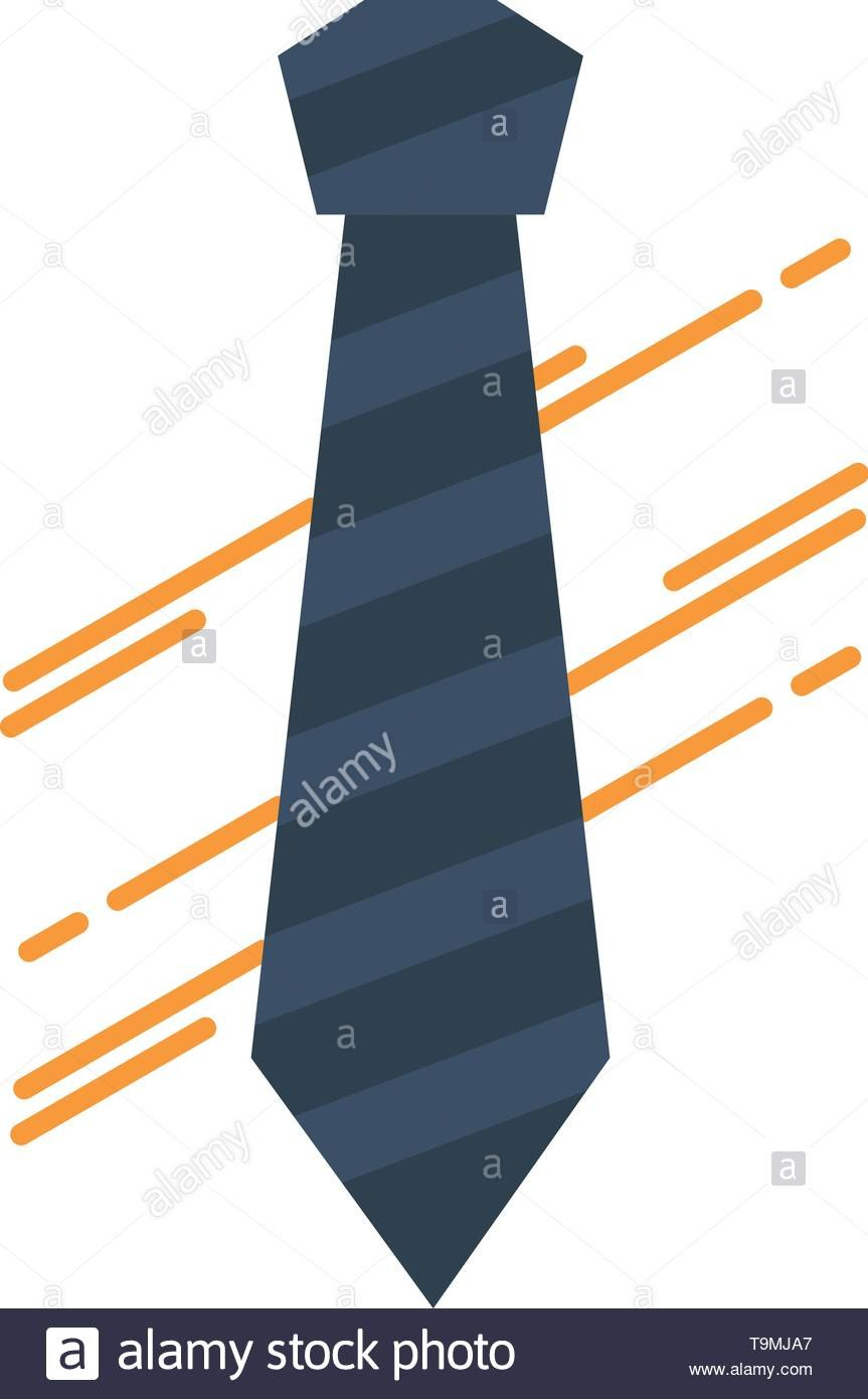 Tie Business Dress Fashion Interview Flat Color Icon Vector With Tie Banner Template