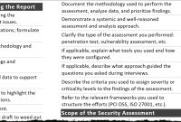 Tips For Creating A Strong Cybersecurity Assessment Report in Information Security Report Template
