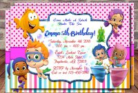 Tips Pretty Bubble Guppies Invitations Design For Your Party Ideas throughout Bubble Guppies Birthday Banner Template