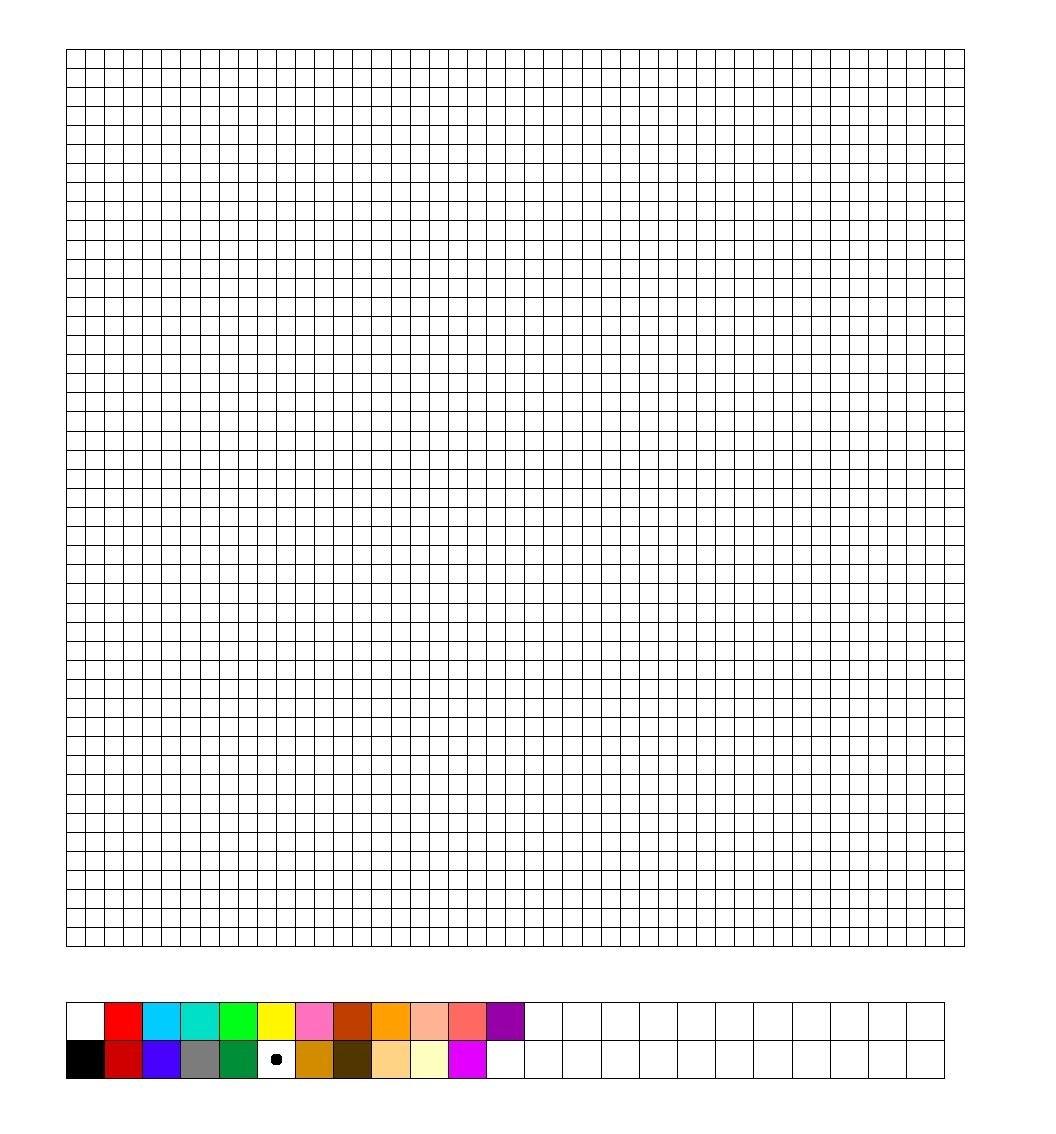 Tnk Hama  Perler Bead Blank Template  Graph Paper  Perler Beads With Regard To Blank Perler Bead Template