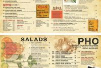 To Go Menu Template  Mathosproject in To Go Menu Template