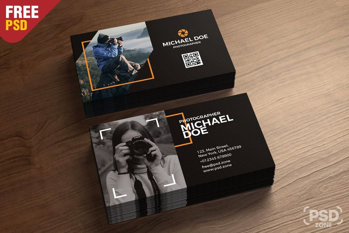 Today We Have A New Free Psd For You And It Is Photography Business Within Free Business Card Templates For Photographers