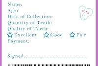 Tooth Fairy Receipt And Many Other Awesome Printables  Kid Stuff pertaining to Tooth Fairy Certificate Template Free