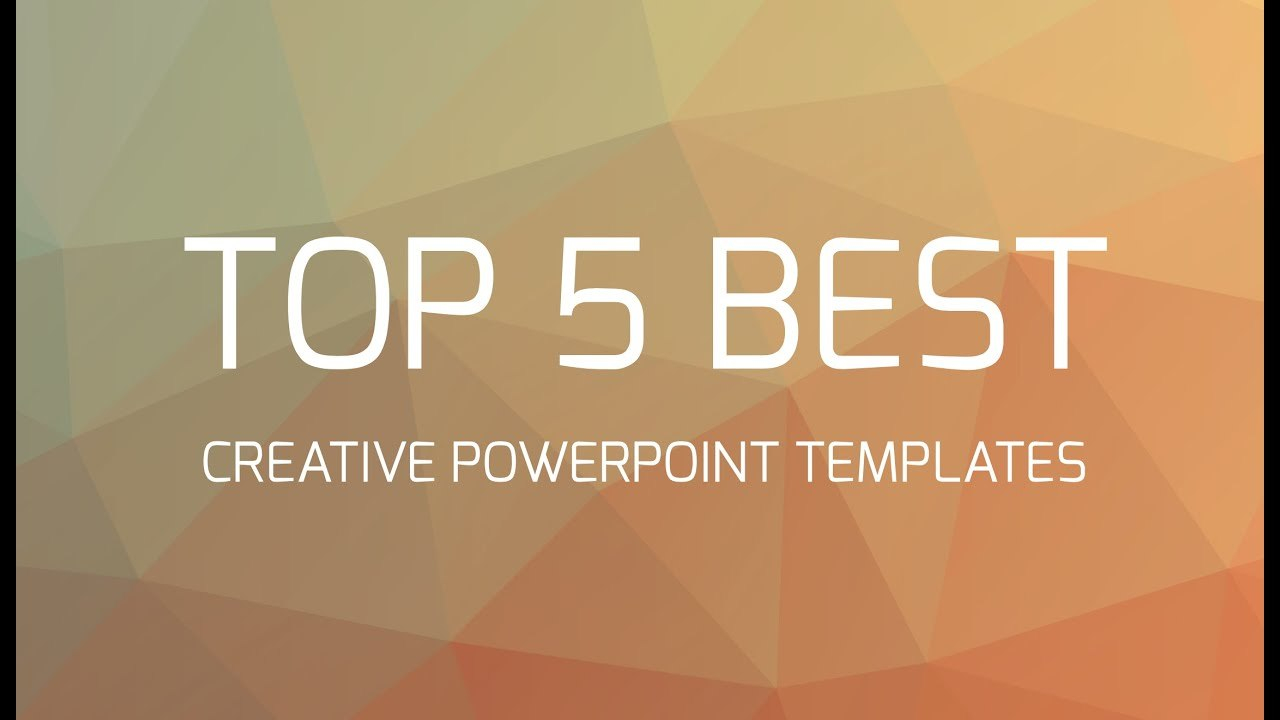 Top  Best Creative Powerpoint Templates  Youtube For Fancy Powerpoint Templates