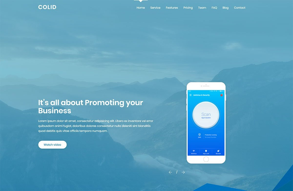 Top  Free Onepage Website Templates Built With Bootstrap Within One Page Business Website Template