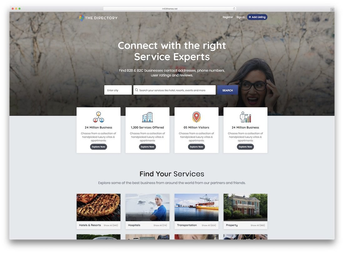 Top Responsive Directory Website Templates   Colorlib For Business Listing Website Template