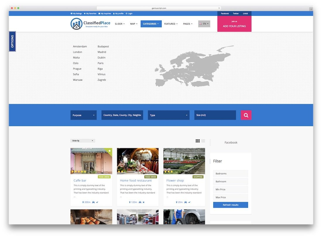 Top Responsive Directory Website Templates   Colorlib Pertaining To Business Directory Template Free