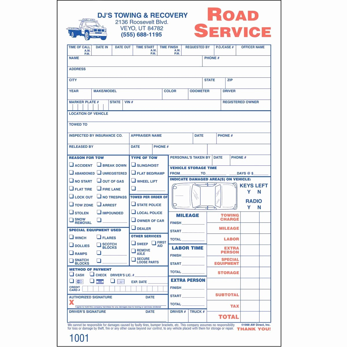 Towing Invoice Template For Tow Truck Invoice Invoice Template Ideas Pertaining To Towing Service Invoice Template