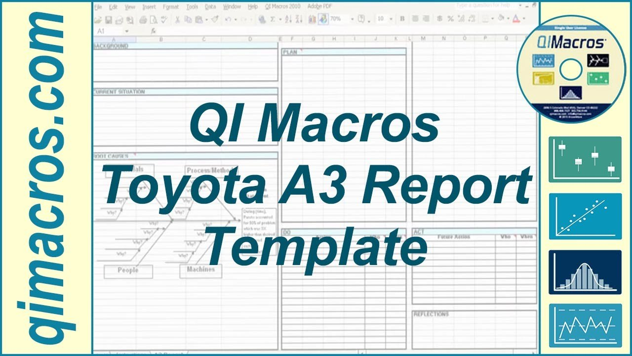 Toyota A Report Template In Excel  Youtube With Regard To A3 Report Template