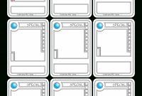 Trading Card Game Template for Superhero Trading Card Template