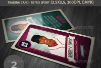 Trading Card Graphics Designs  Templates From Graphicriver with regard to Baseball Card Template Psd