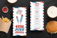 Traditional Th July Dl Rack Card Template In Psd Ai  Vector Intended For 4Th Of July Menu Template