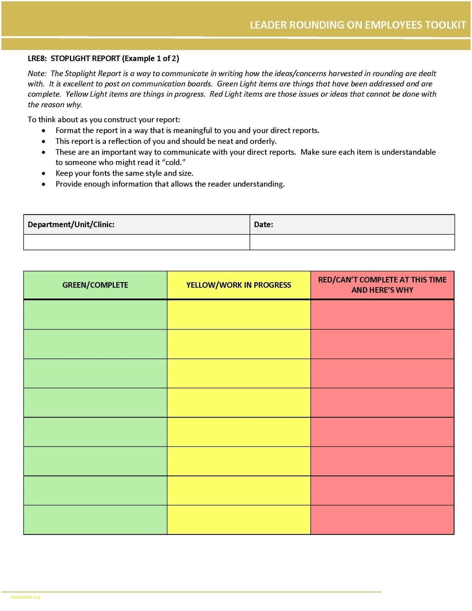 Traffic Light Report Template Word – Dorri In Stoplight Report Template