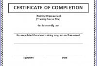 Training Certificate Of Completion  Ms Word Templates  Ms Word intended for Certificate Of Completion Word Template
