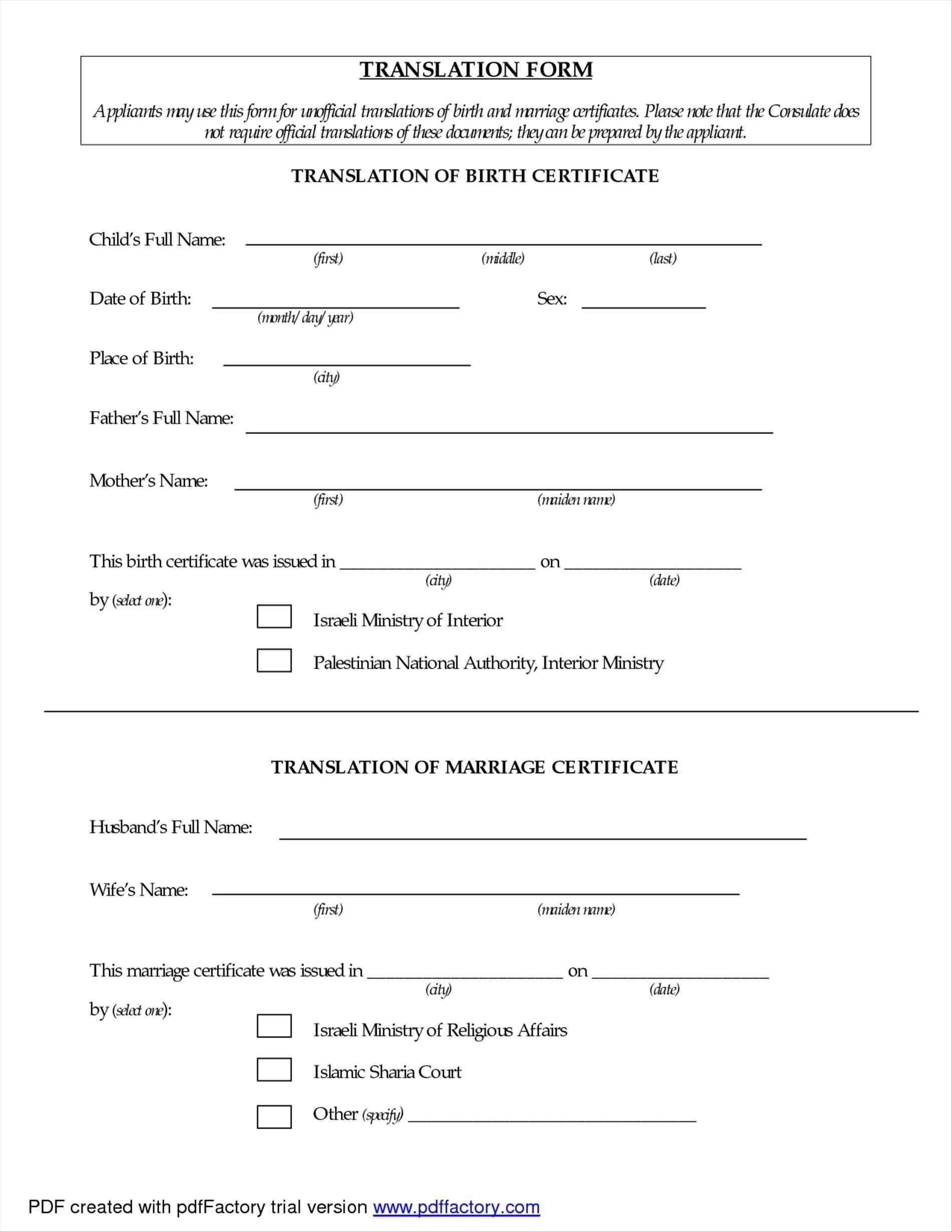 Translate Marriage Certificate From Spanish To English Template For Mexican Marriage Certificate Translation Template