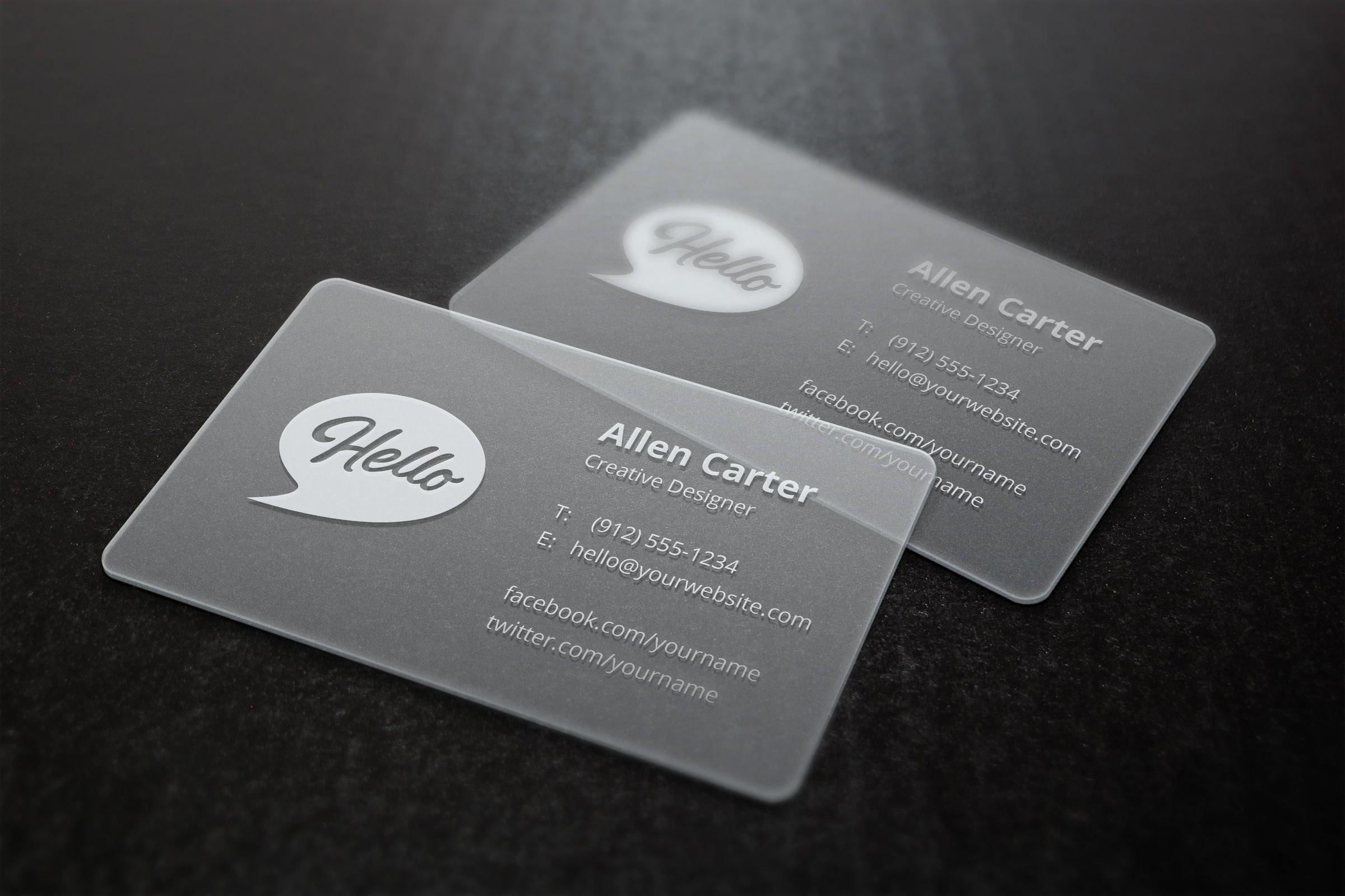 Translucent Business Cards Mockup  Design Resources  Plastic Intended For Transparent Business Cards Template