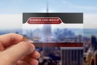 Transparent Business Card Mockup Template Psd On Behance inside Transparent Business Cards Template