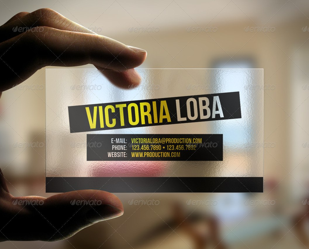 Transparent Business Card Templates  Designs From Graphicriver Pertaining To Transparent Business Cards Template