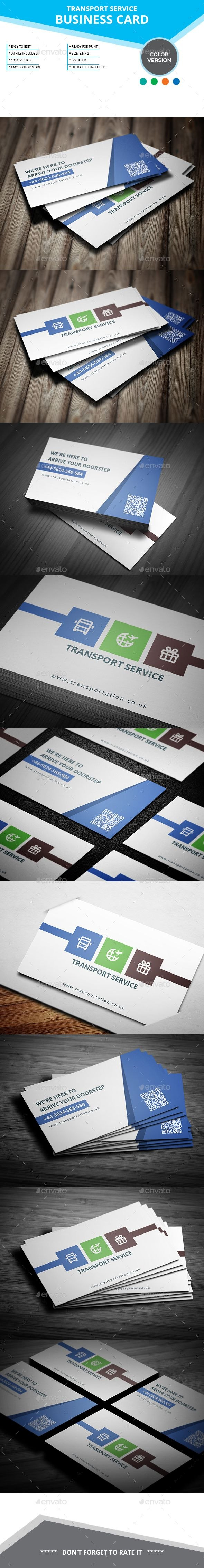 Transport Service Business Card Template Vector Eps  Business Card In Transport Business Cards Templates Free