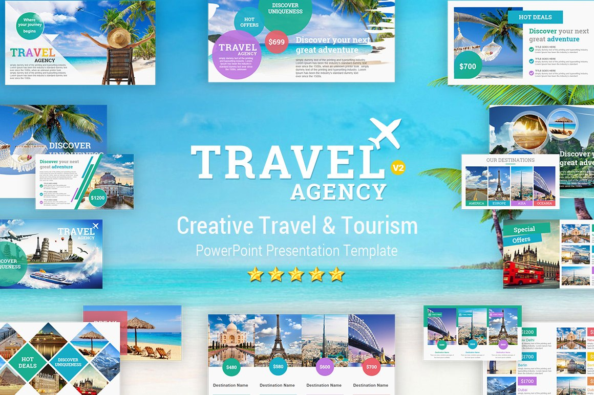 Travel And Tourism Powerpoint Presentation Template  Yekpix For Tourism Powerpoint Template