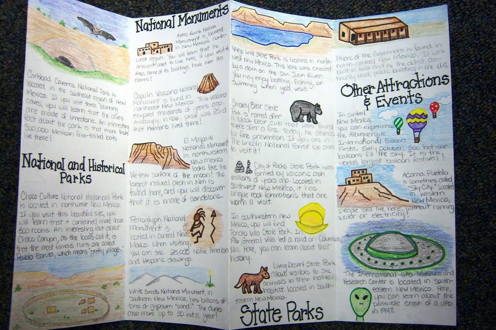 Travel Brochure School Project  Theveliger Pertaining To Brochure Templates For School Project