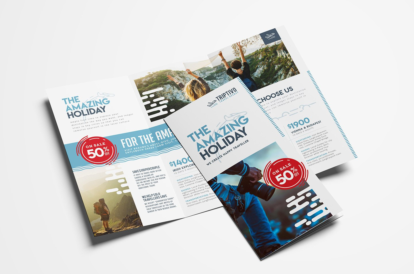 Travel Company Trifold Brochure Template In Psd Ai  Vector Within Travel Guide Brochure Template