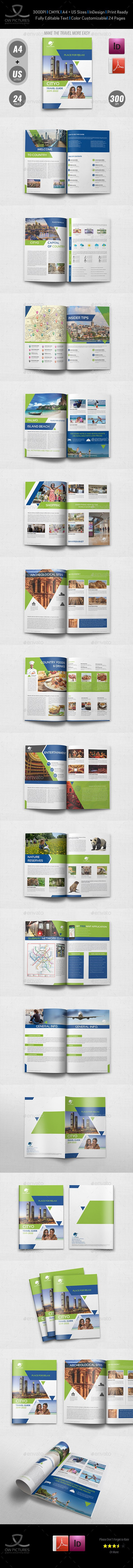 Travel Guide Graphics Designs  Templates From Graphicriver Within Travel Guide Brochure Template