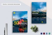Travel Package Magazine Template In Psd Word Publisher Indesign regarding Magazine Ad Template Word