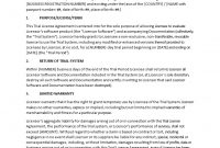 Trial Software License Agreement  Templates At Allbusinesstemplates for Software Warranty Agreement Template