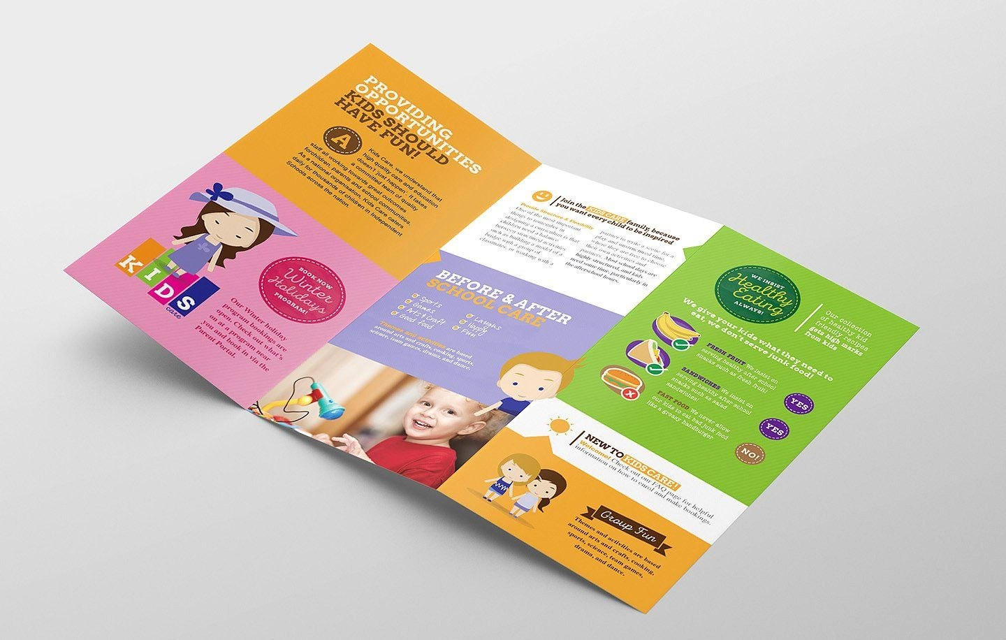 Trifold After School Care Template Easytemplatespacksave Pertaining To Tri Fold School Brochure Template