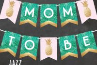 Tropical Baby Shower Banner Diy Printable Pineapple Baby  Etsy pertaining to Diy Baby Shower Banner Template