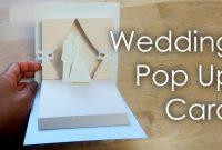 Tutorial  Template Diy Wedding Project Pop Up Card  Youtube for Pop Up Wedding Card Template Free