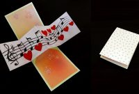 Twist And Pop Music Card  Pop Up Cardtemplate  Ezycraft  Youtube with Twisting Hearts Pop Up Card Template